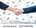 business handshake for... | Shutterstock . vector #1027389286