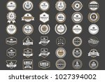 vintage retro vector logo for... | Shutterstock .eps vector #1027394002