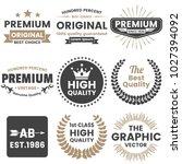 vintage retro vector logo for... | Shutterstock .eps vector #1027394092
