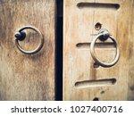 classic antique oak wood door... | Shutterstock . vector #1027400716