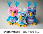owl doll knitted | Shutterstock . vector #1027401412