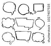 speech  thougth  speaking hand...   Shutterstock .eps vector #1027407535