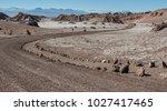 unpaved road at valle de la... | Shutterstock . vector #1027417465