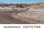 unpaved road at valle de la... | Shutterstock . vector #1027417468