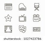 set of entertainment icons | Shutterstock .eps vector #1027423786