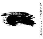 ink vector dry brush stroke.... | Shutterstock .eps vector #1027427122