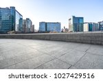 empty marble with modern office ... | Shutterstock . vector #1027429516