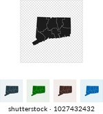 map of connecticut | Shutterstock .eps vector #1027432432