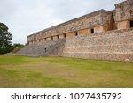 uxmal  mexico   january 30 ... | Shutterstock . vector #1027435792