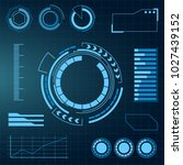 futuristic user interface hud.... | Shutterstock .eps vector #1027439152