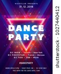 dance party poster vector... | Shutterstock .eps vector #1027440412