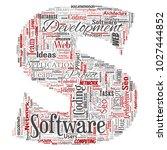 conceptual software development ... | Shutterstock . vector #1027444852