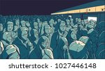 illustration of crowded metro ... | Shutterstock .eps vector #1027446148
