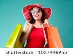 women are shopping in the... | Shutterstock . vector #1027446955