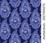 seamless beautiful paisley... | Shutterstock . vector #1027454272
