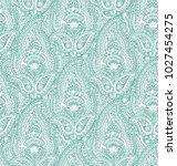 seamless beautiful paisley... | Shutterstock . vector #1027454275