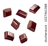 close up of chocolate pieces... | Shutterstock . vector #1027461388