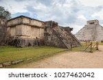 chichen itza  mexico   january... | Shutterstock . vector #1027462042