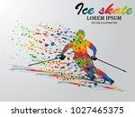 visual drawing ice skate sport... | Shutterstock .eps vector #1027465375