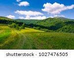 Grassy Rural Fields On Mountain ...
