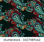 traditional paisley pattern.... | Shutterstock .eps vector #1027489162