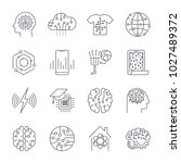 set of icons in trendy linear... | Shutterstock .eps vector #1027489372