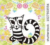cute cat. vector illustration | Shutterstock .eps vector #1027503556
