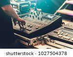 professional stage sound mixer... | Shutterstock . vector #1027504378