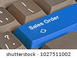 keyboard with key for sales...   Shutterstock . vector #1027511002