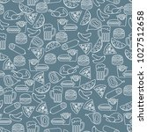 seamless pattern with different ... | Shutterstock .eps vector #1027512658