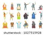 fairy tale kings set of cartoon ...   Shutterstock .eps vector #1027515928