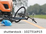 accident car crash with bicycle ... | Shutterstock . vector #1027516915