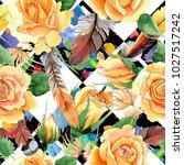 wildflower yellow tea hybrid... | Shutterstock . vector #1027517242