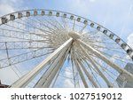sky view ferris wheel at... | Shutterstock . vector #1027519012