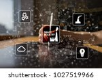 smart industry. industrial and... | Shutterstock . vector #1027519966