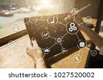 automation and iot  internet of ... | Shutterstock . vector #1027520002