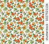 vector seamless pattern. pretty ... | Shutterstock .eps vector #1027521136