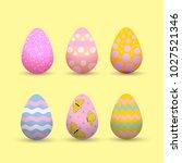 decorative easter eggs .easter... | Shutterstock .eps vector #1027521346
