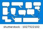 comics balloons dialogue frames ... | Shutterstock .eps vector #1027522102