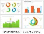 collection of circular diagrams ... | Shutterstock .eps vector #1027524442