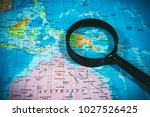 papua new guinea on the map | Shutterstock . vector #1027526425