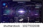 hud.radar screen. vector... | Shutterstock .eps vector #1027532038