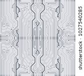 microchip background. eps10... | Shutterstock .eps vector #1027540285