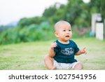 portrait of cute adorable ten... | Shutterstock . vector #1027541956