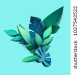composition of 3d stylized... | Shutterstock .eps vector #1027543522