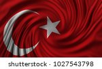 beautiful turkish flag made of... | Shutterstock . vector #1027543798