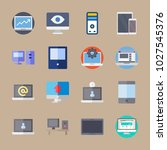 icons computer with eye  web... | Shutterstock .eps vector #1027545376