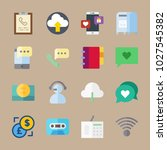 icons communication with... | Shutterstock .eps vector #1027545382