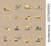 icons construction machinery... | Shutterstock .eps vector #1027545592