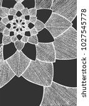 zentangle abstract flower.... | Shutterstock .eps vector #1027545778